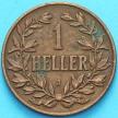 Монета Германской Восточной Африки 1 геллер 1908 год. J