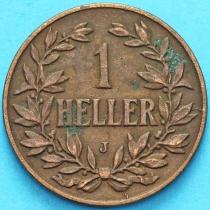 Немецкая Восточная Африка 1 геллер 1908 год. J