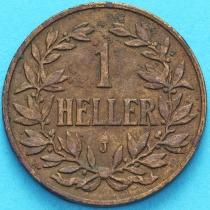 Немецкая Восточная Африка 1 геллер 1909 год. J