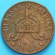 Монета Германской Восточной Африки 1 геллер 1905 год. J XF