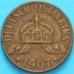 Монета Германская Восточная Африка 1 геллер 1907 год. J