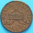 Монета Германская Восточная Африка 1 геллер 1909 год. J