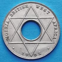 Нигерия и Британская западная Африка 1/10 пенни 1908 год.
