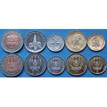 Руанда набор 5 монет 2003-2011 год.