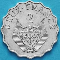 Руанда 2 франка 1970 год. ФАО