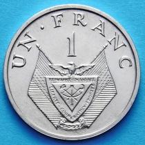 Руанда 1 франк 1969 год.