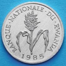 Руанда 1 франк 1974-1985 год. Стебель проса.