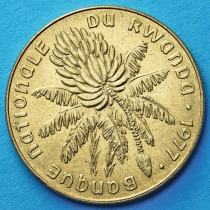 Руанда 20 франков 1977 год. Банановое дерево.