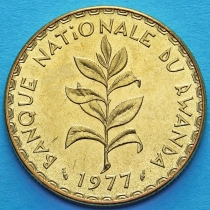 Руанда 50 франков 1977 год. Росток зелёного чая.