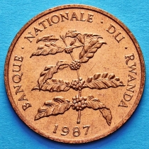 Руанда 5 франков 1974-1985 год. Веточка кофейного дерева.