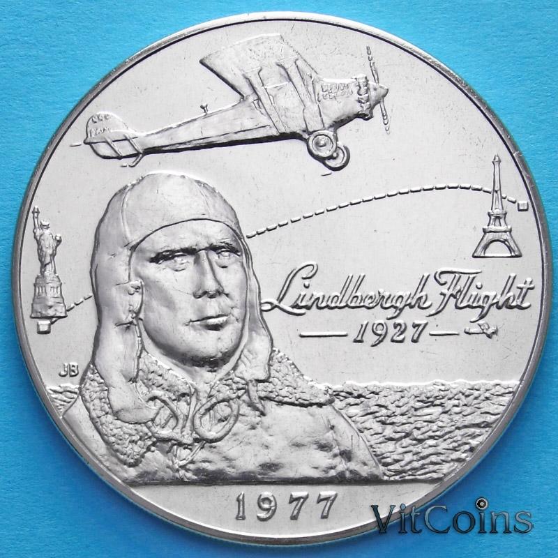 Монета Самоа и Сизифо 1 тала 1977 год. 50 лет первому перелёту через Атлантический океан.