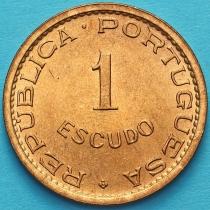 Португальский Сан Томе и Принсипи 1 эскудо 1971 год.