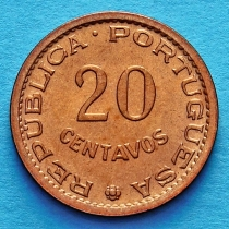 Португальский Сан Томе и Принсипи 20 сентаво 1971 год.
