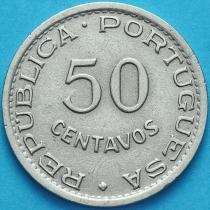 Сан Томе и Принсипи 50 сентаво 1951 год.