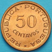 Португальский Сан Томе и Принсипи 50 сентаво 1971 год.