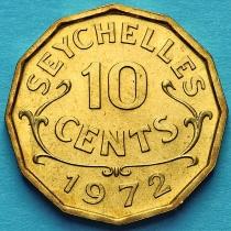 Сейшельские острова 10 центов 1972 год.
