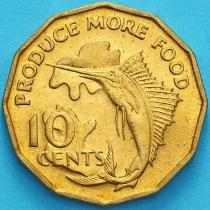 Сейшельские острова 10 центов 1977 год. ФАО
