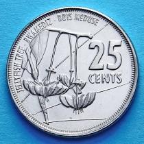 Сейшельские острова 25 центов 2016 год. Медузагина супротивнолистная.