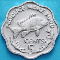 Сейшельские острова 5 центов 1977 год. ФАО.