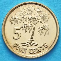 Сейшельские острова 5 центов 2012 год. Маниок.