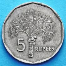 Сейшельские острова 5 рупий 1992-2000 год