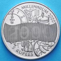 Сейшельские острова 5 рупий 2000 год. Миллениум.