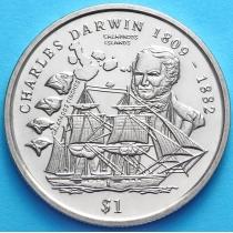 Сьерра-Леоне 1 доллар 1999 год. Чарльз Дарвин