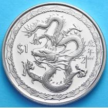Сьерра-Леоне 1 доллар 2000 г. Год Дракона