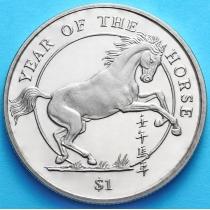 Сьерра-Леоне 1 доллар 2002 г. Год лошади