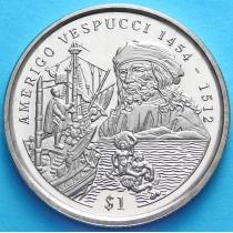 Сьерра-Леоне 1 доллар 1999 год. Америго Веспучи