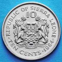 Сьерра Леоне 10 центов 1984 год.