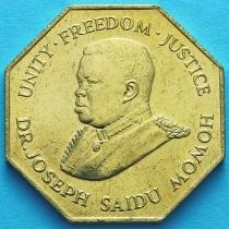 Сьерра Леоне 1 леоне 1987 год.