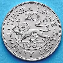 Сьерра Леоне 20 центов 1964 год.