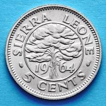 Сьерра Леоне 5 центов 1964 год.