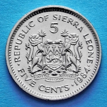 Сьерра Леоне 5 центов 1984 год.