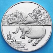 Сьерра-Леоне 1 доллар 2005 год. Бегемот
