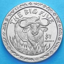 Сьерра-Леоне 1 доллар 2001 год. Большая пятерка. Буйвол