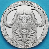 Сьерра-Леоне 1 доллар 2019 год. Большая пятерка. Буйвол.