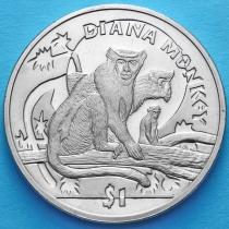 Сьерра-Леоне 1 доллар 2009 год. Мартышка Диана