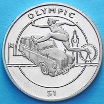 Сьерра-Леоне 1 доллар 2012 год. Прыжки в длину, олимпиада