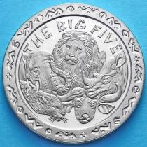 Сьерра-Леоне 1 доллар 2001 год. Большая пятерка