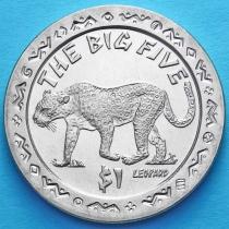 Сьерра-Леоне 1 доллар 2001 год. Большая пятерка. Леопард