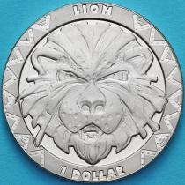 Сьерра-Леоне 1 доллар 2019 год. Большая пятерка. Лев