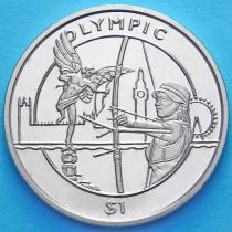Сьерра-Леоне 1 доллар 2012 год. Олимпиада, лучник