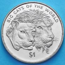 Сьерра-Леоне 1 доллар 2001 год. Львы