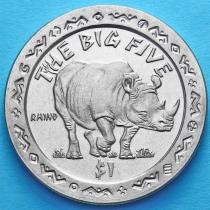 Сьерра-Леоне 1 доллар 2001 год. Большая пятерка. Носорог.