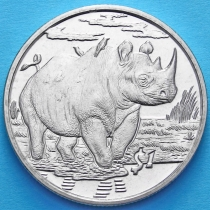 Сьерра-Леоне 1 доллар 2007 год. Носорог
