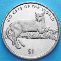 Сьерра-Леоне 1 доллар 2001 год. Черная пантера