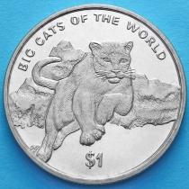 Сьерра-Леоне 1 доллар 2001 год. Пума