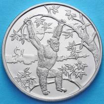 Сьерра-Леоне 1 доллар 2006 год. Шимпанзе